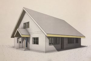 Architects rendering of new house exterior