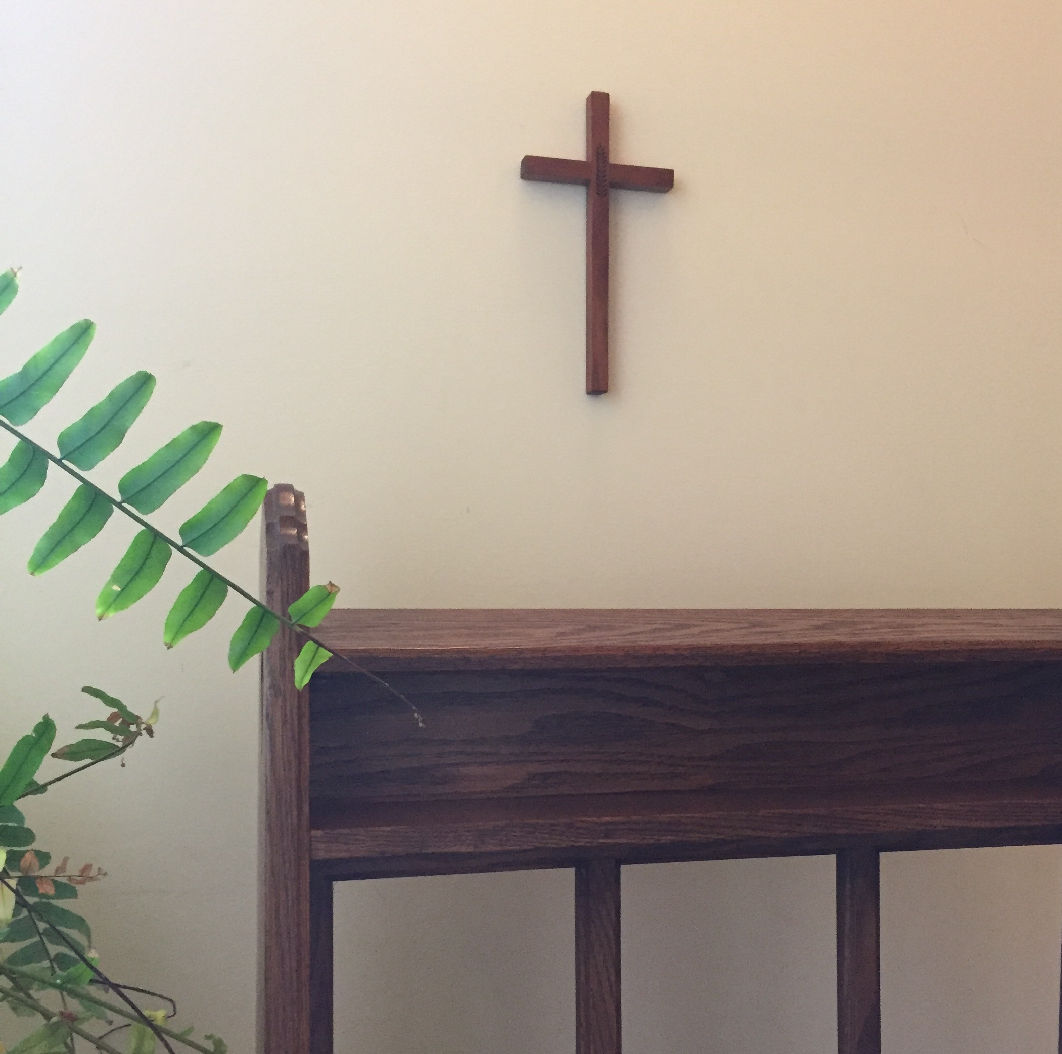 kneeling bench and cross