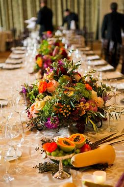 table with vegetables